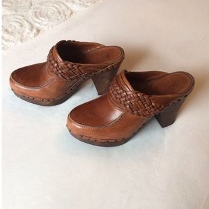 Frye Leather Clogs Mules